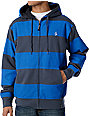 Volcom Getta Blue & Grey Sherpa Fleece Zip Up Hoodie
