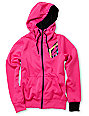 Volcom Jubaea Pink Full Zip Tech Fleece Jacket