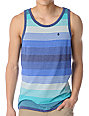 Volcom Merge Blue Stripe Tank Top