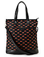 Volcom Quite A View Black & Red Tote Bag