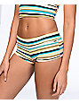 Volcom Salty Air Stripe Boy Cut Bikini Bottom