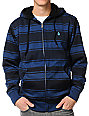 Volcom Spunch Blue Sherpa Tech Fleece Jacket