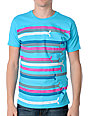 WeSC Icon Horizontal Blue Striped T-Shirt
