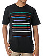 WeSC Multiple Logo Stripe Black T-Shirt