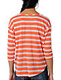 Workshop Obsidian Coral Stripe Top