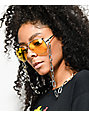 Yellow & Silver Aviator Sunglasses