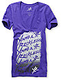 Young & Reckless Stacked Purple T-Shirt