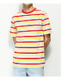 Zine Bonus Stripe Red, White, Yellow & Blue T-Shirt