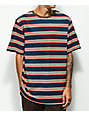 Zine Breaker Navy, Red & White Striped T-Shirt
