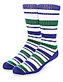 Zine Capsize White, Purple & Green Crew Socks