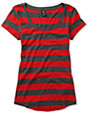 Zine Charcoal & Jester Red Stripe T-Shirt