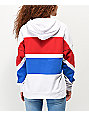 Zine Desda Red, White & Blue Colorblock Hoodie