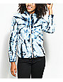 Zine Nina Blue & White Tie Dye Full Zip Jacket