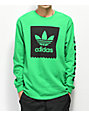 adidas Blackbird Green Long Sleeve T-Shirt