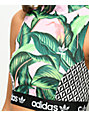 adidas x Farm Pink Palm Mock Neck Sports Bra