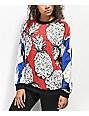 adidas x Farm Red Pineapple Crew Neck Sweatshirt