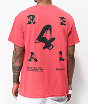 4Hunnid 4Real Olde camiseta coral