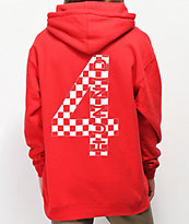 4Hunnid Checkered Red Hoodie