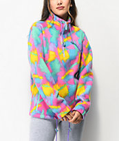 A-Lab Apres Multicolor Print Half Zip Tech Fleece Jacket