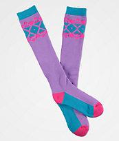 A-Lab Lumi Pink & Purple Snow Socks