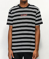 A Lost Cause En Vogue Stripe Black & White T-Shirt