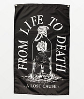 A Lost Cause Life To Death bandera negra