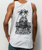 A Lost Cause Skull Island White Tank Top