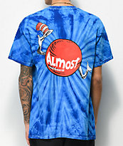 Almost x Dr. Seuss Hat Dot camiseta tie dye azul