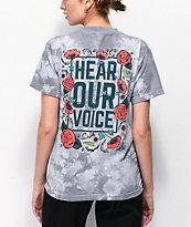 Amplifier Hear Our Voice camiseta tie dye gris