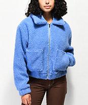 Angel Kiss Wubby chaqueta de sherpa azul claro