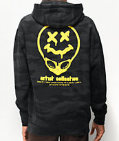 Artist Collective Alien Drip 51 Black Camo Hoodie