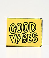 Artist Collective Good Vibes Yellow Bifold Wallet