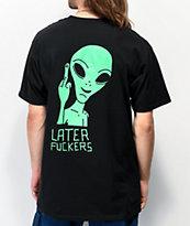 Artist Collective Later Alien Flip Black T-Shirt