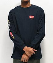 Brixton x Coors Primary camiseta de manga larga azul marino