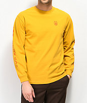 Brixton x Independent Frame camiseta amarilla de manga larga