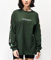 Broken Promises Feeled Guide camiseta verde de manga larga