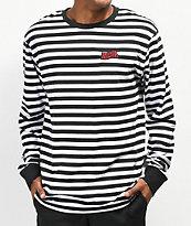 Broken Promises Paranoid Stripe Black & White Long Sleeve T-Shirt