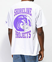 Brooklyn Projects x Shoreline Mafia Wavy camiseta blanca