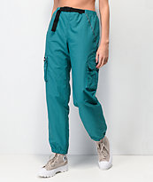 By Samii Ryan Bad Habits Turquoise Crinkle Track Pants
