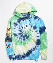 By Samii Ryan Growth Green & Blue Tie Dye Hoodie