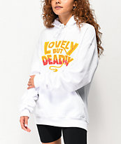 By Samii Ryan Lovely But Deadly White Hoodie