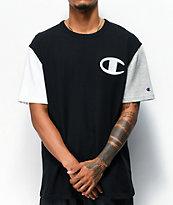 Champion Big C camiseta negra, blanca y gris