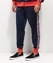 Champion C Logo Tape Blue & Red Track Pants