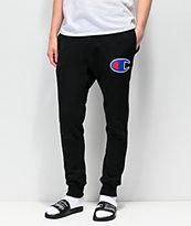 Champion Chainstitch Seal Applique Black Sweatpants