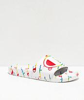 Champion IPO Repeat Multicolor White Slide Sandals