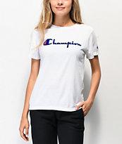 Champion OG Direct Flock Script camiseta blanca