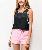 Champion Reversible Black Mesh Crop Tank Top