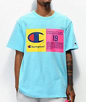Champion Two Tone Jock Tag Blue T-Shirt