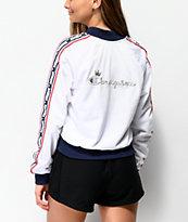 Champion White & Blue Taping Track Jacket