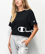 Champion Wrap Script camiseta corta negra